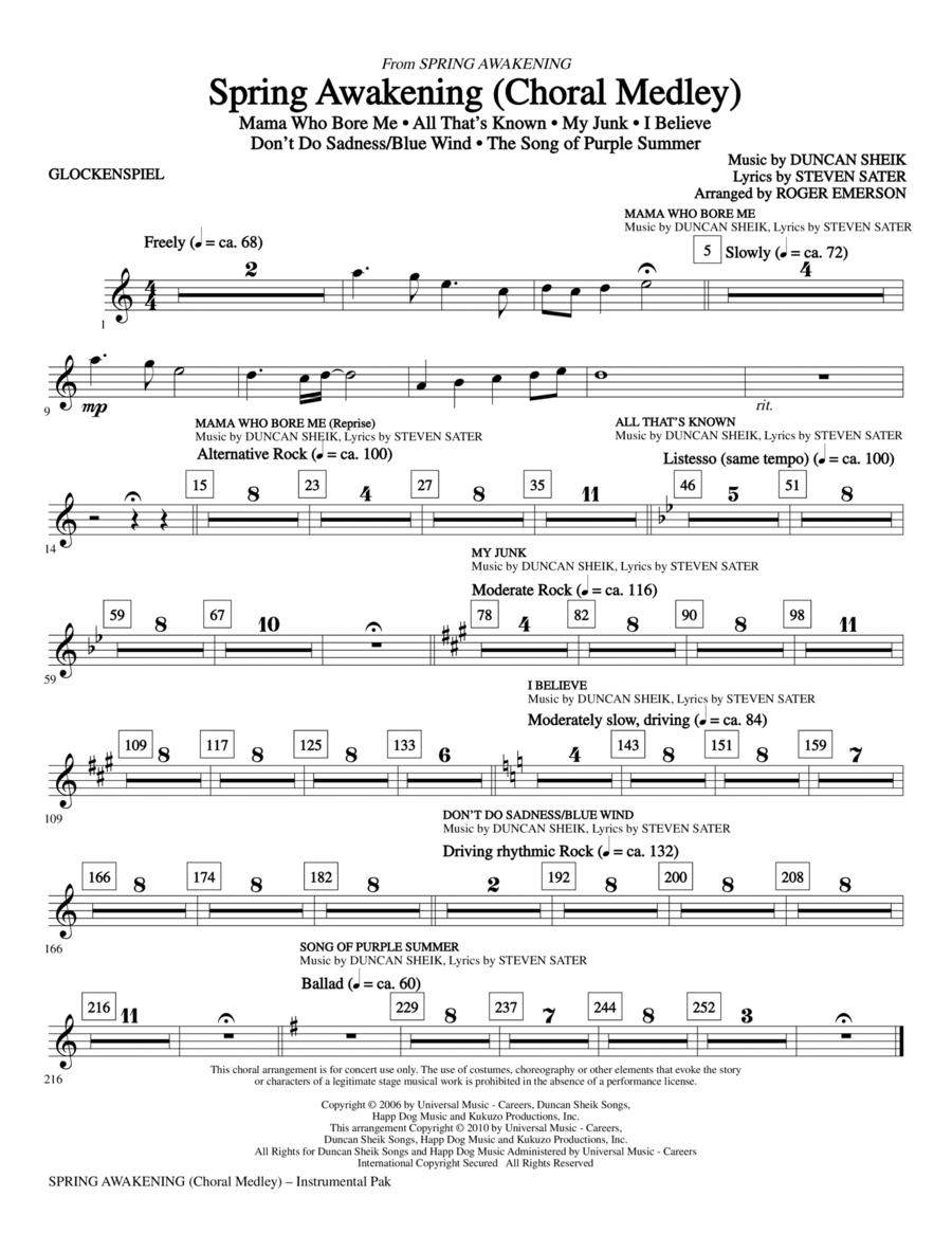 Spring Awakening (Choral Medley) - Glockenspiel