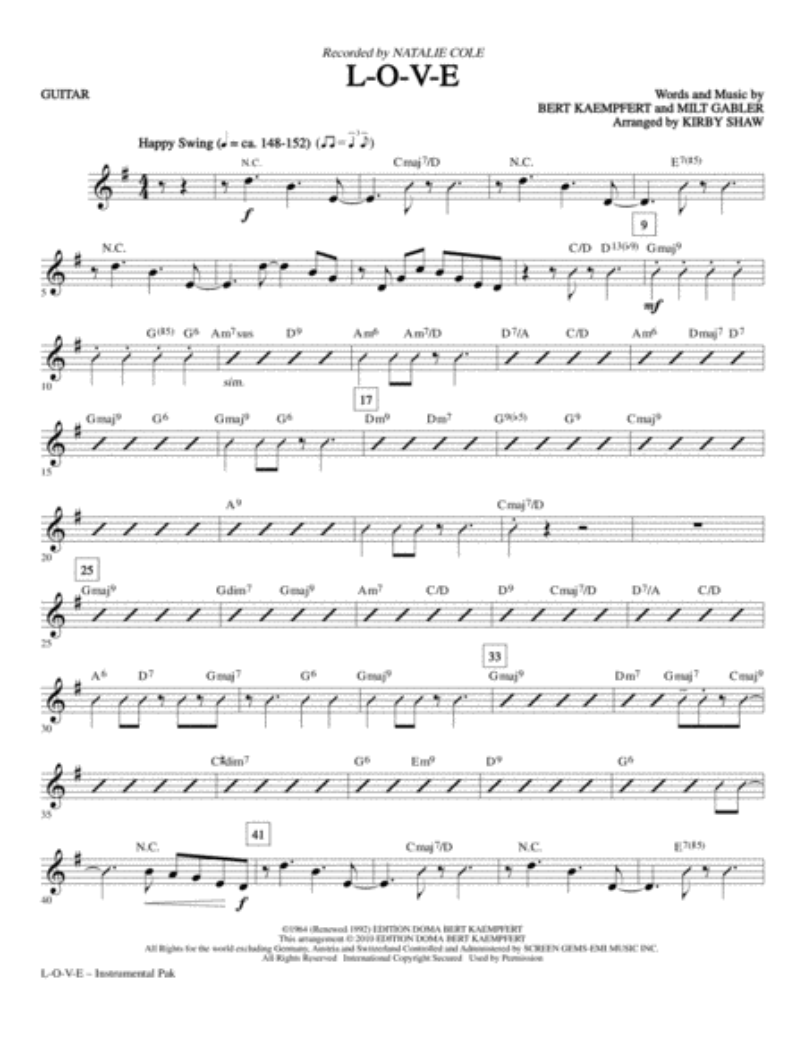 L-O-V-E - Guitar