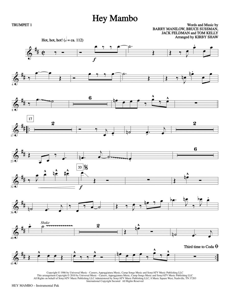 Hey Mambo - Bb Trumpet 1