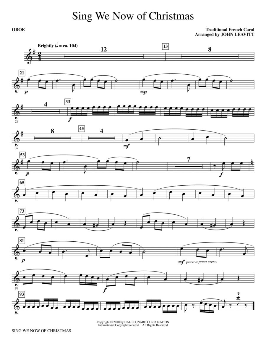 Sing We Now Of Christmas - Oboe