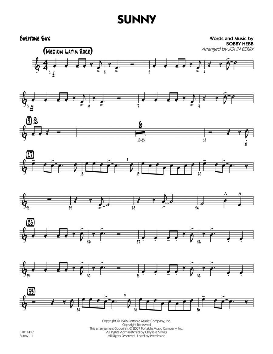 Sunny - Baritone Sax