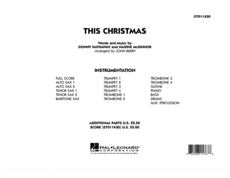 This Christmas - Full Score