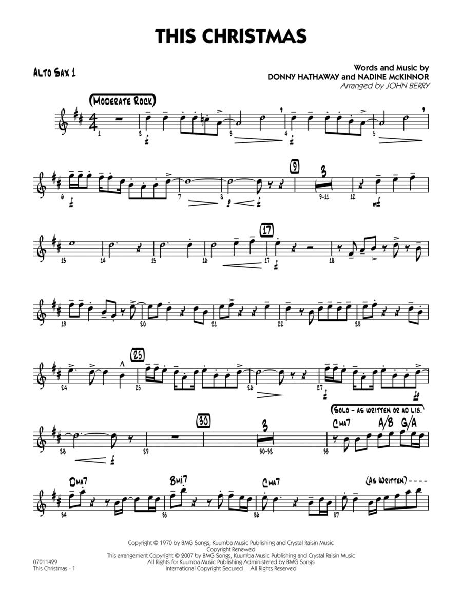 This Christmas - Alto Sax 1