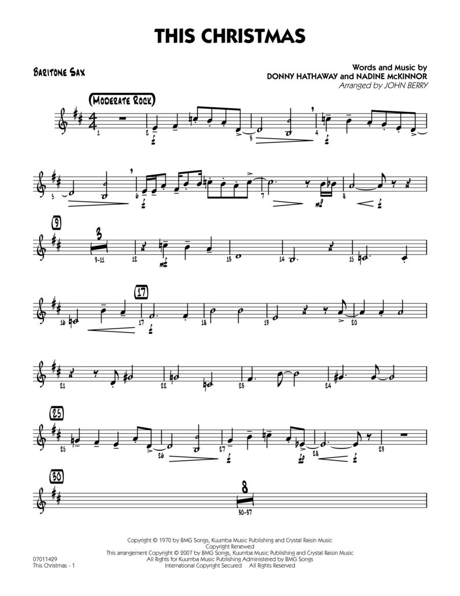 This Christmas - Baritone Sax