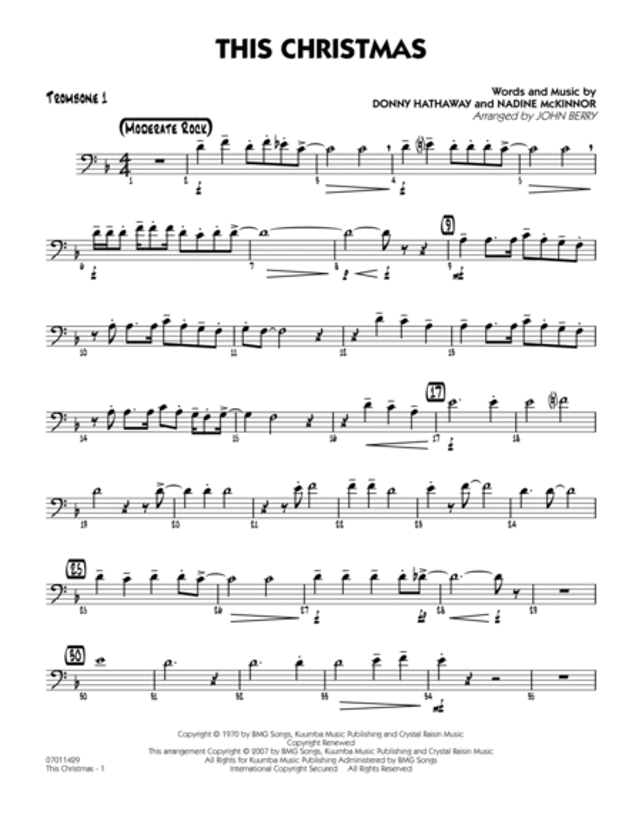 This Christmas - Trombone 1