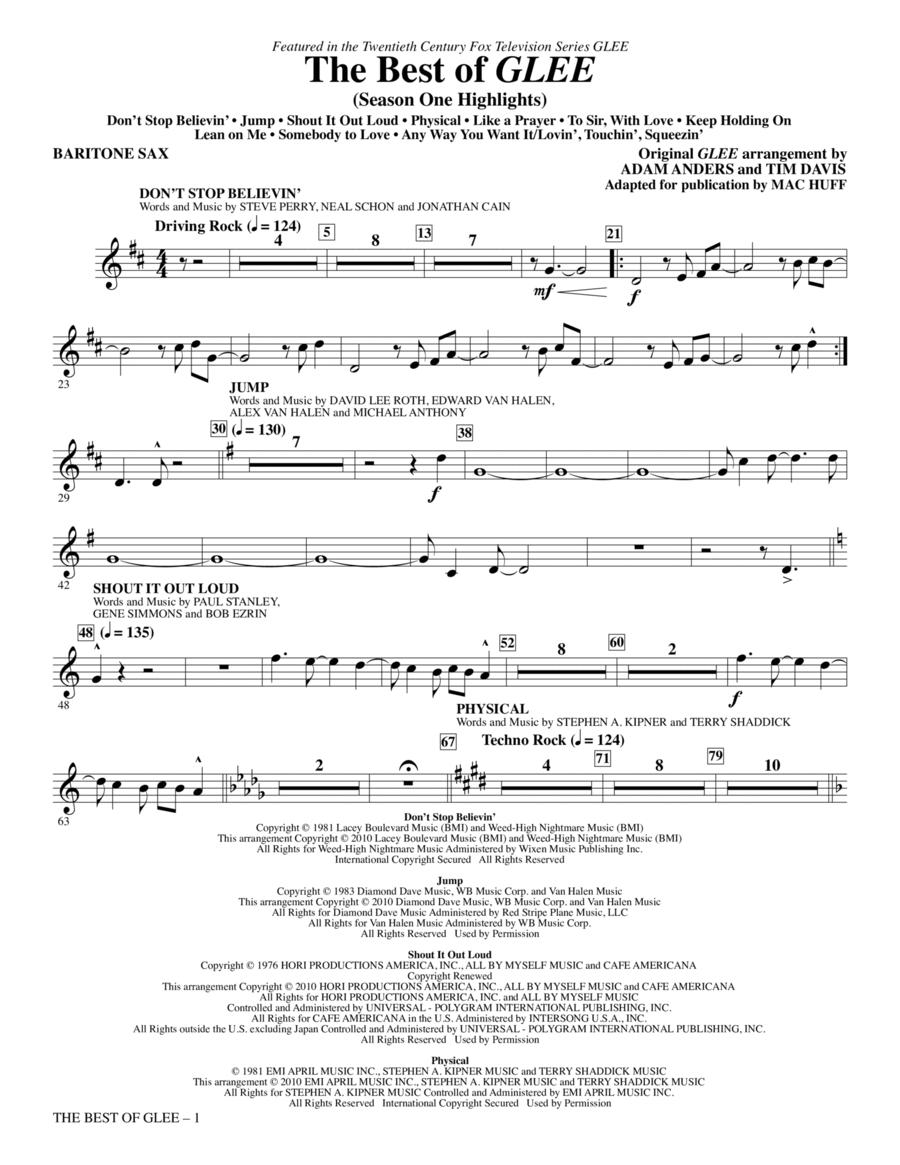 The Best Of Glee (Season One Highlights) - Baritone Sax