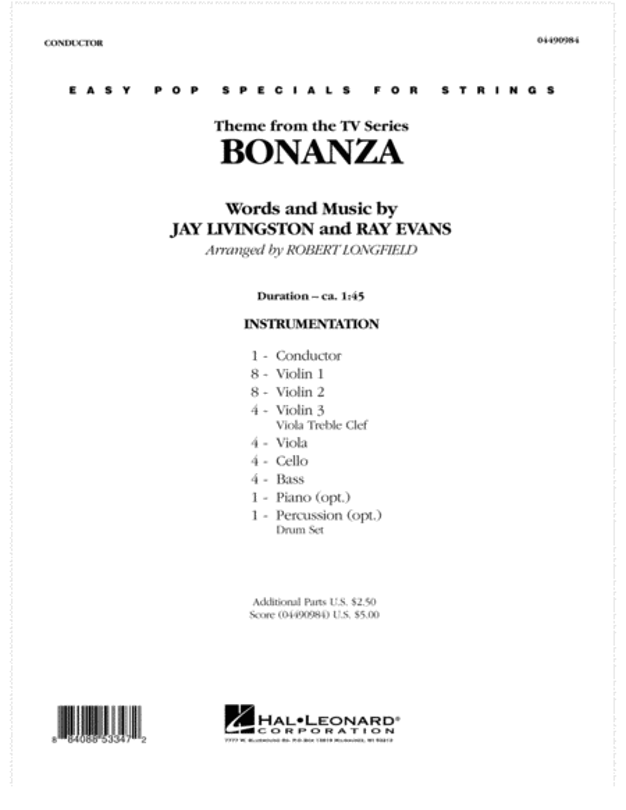 Bonanza - Full Score