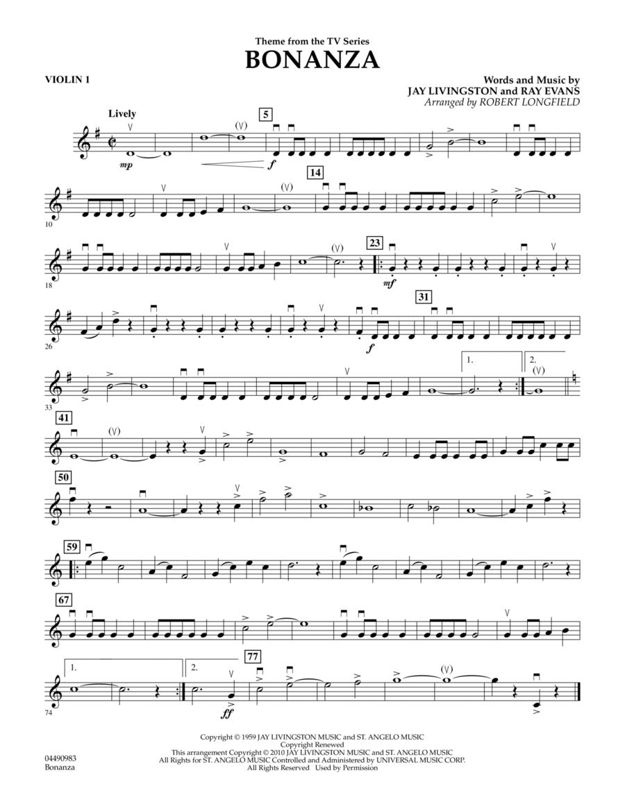 Bonanza - Violin 1