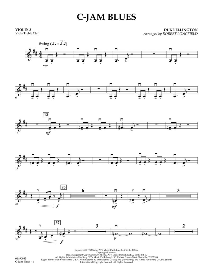 C-Jam Blues - Violin 3 (Viola Treble Clef)