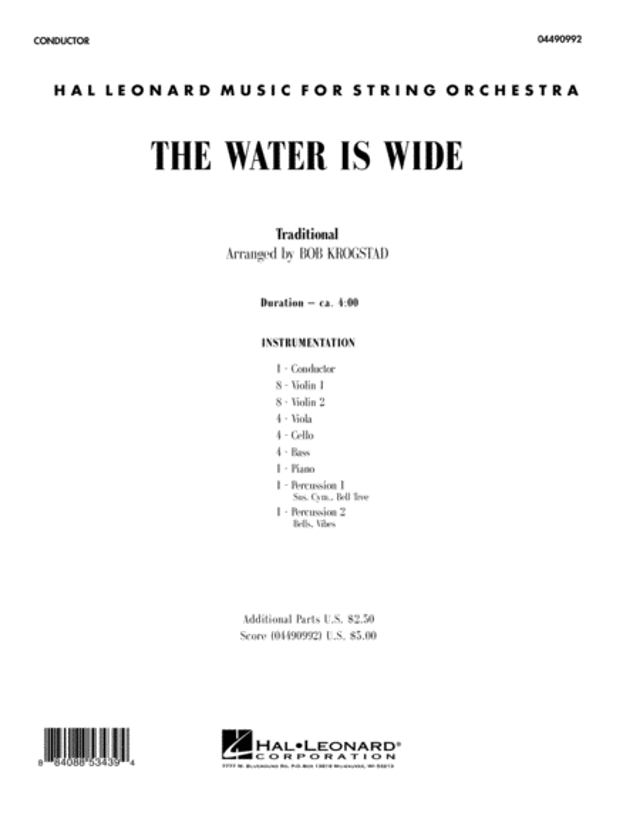 The Water Is Wide - Full Score