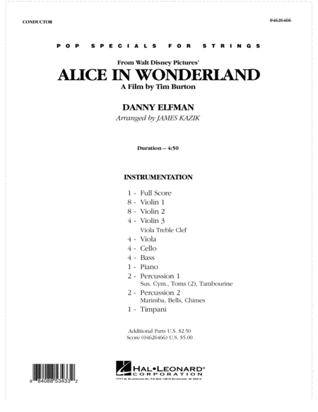 Alice In Wonderland - Full Score
