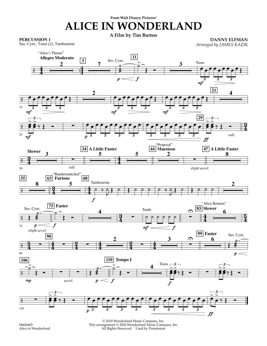 Alice In Wonderland - Percussion 1