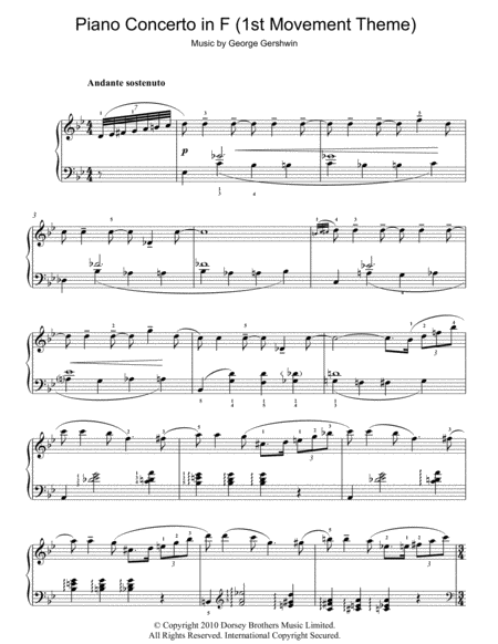 Theme From Piano Concerto In F