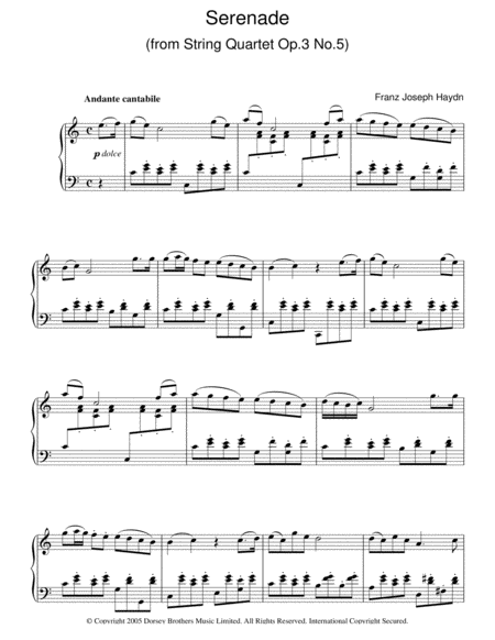 Serenade For Strings, Op. 3, No. 5