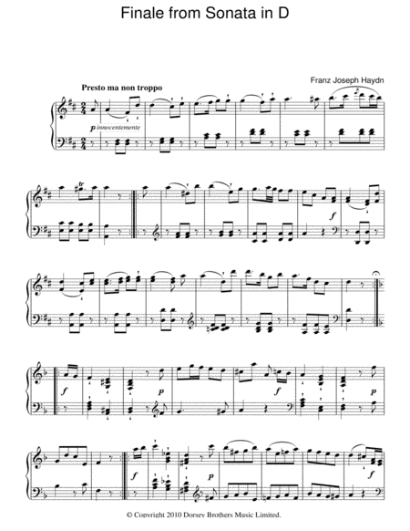 Finale From Sonata In D