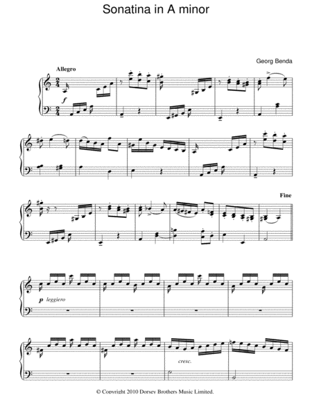Sonatina In A Minor