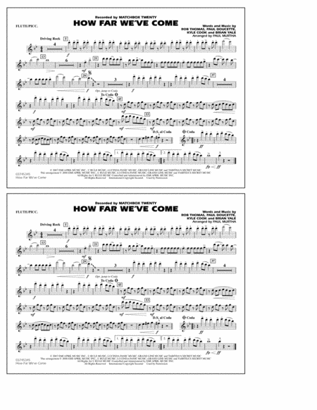 How Far We've Come - Flute/Piccolo