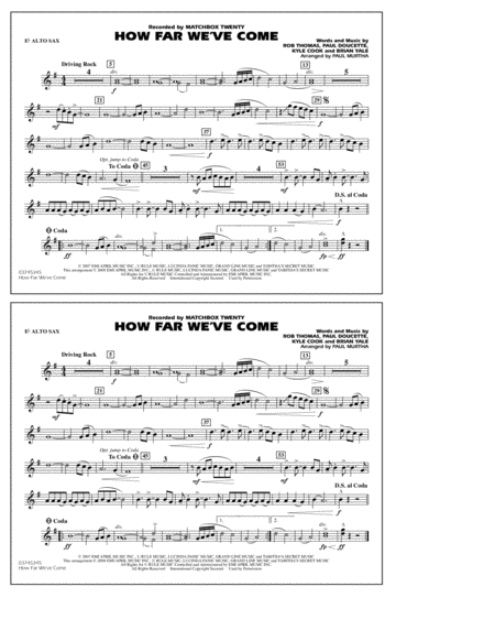 How Far We've Come - Eb Alto Sax