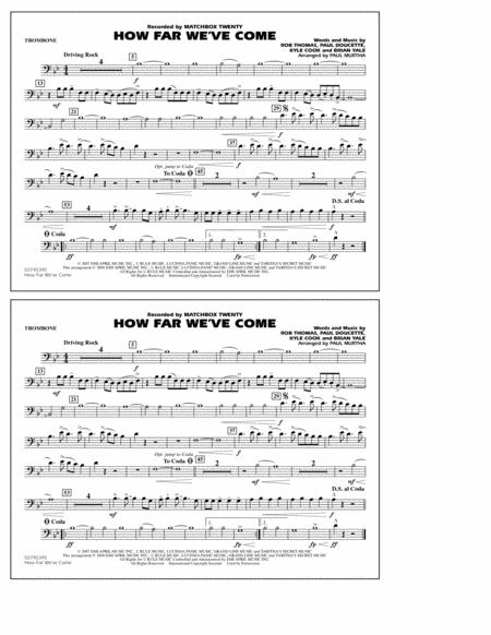 How Far We've Come - Trombone