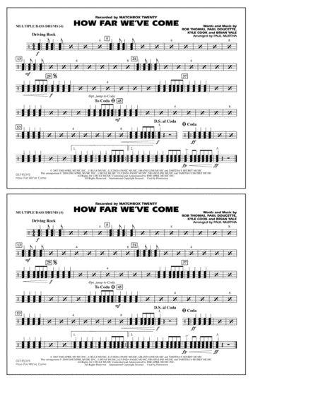 How Far We've Come - Multiple Bass Drums