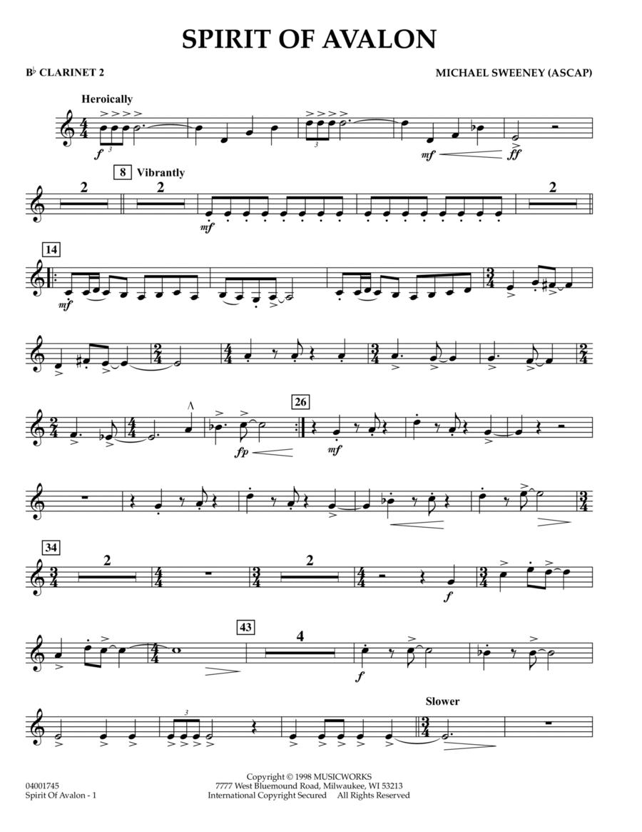 Spirit Of Avalon - Bb Clarinet 2