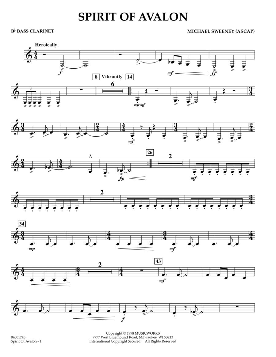 Spirit Of Avalon - Bb Bass Clarinet