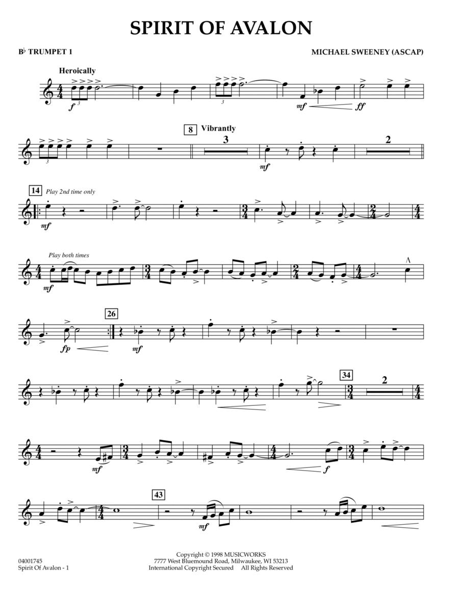 Spirit Of Avalon - Bb Trumpet 1