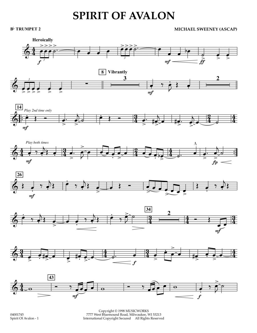 Spirit Of Avalon - Bb Trumpet 2