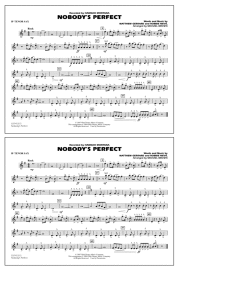 Nobody's Perfect - Bb Tenor Sax