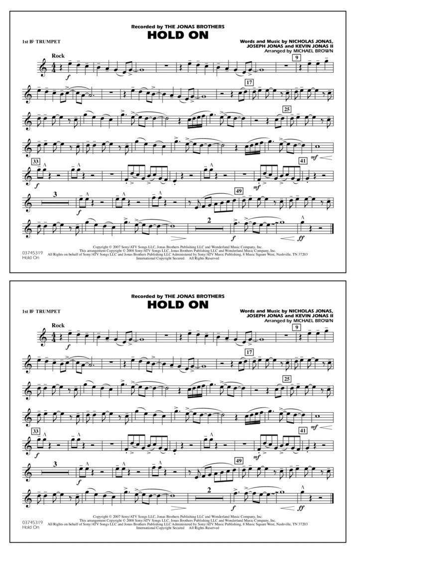 Hold On - 1st Bb Trumpet