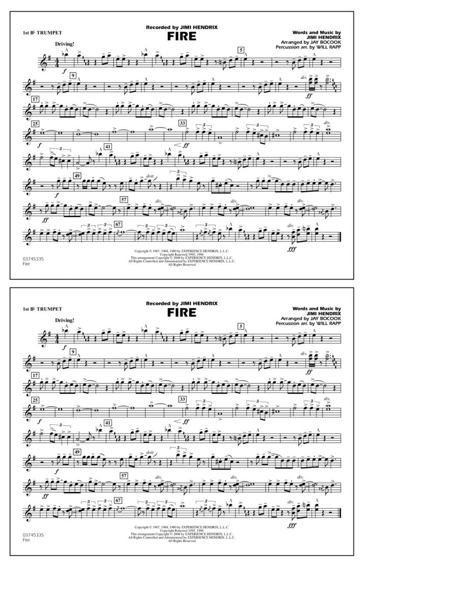 Fire - 1st Bb Trumpet