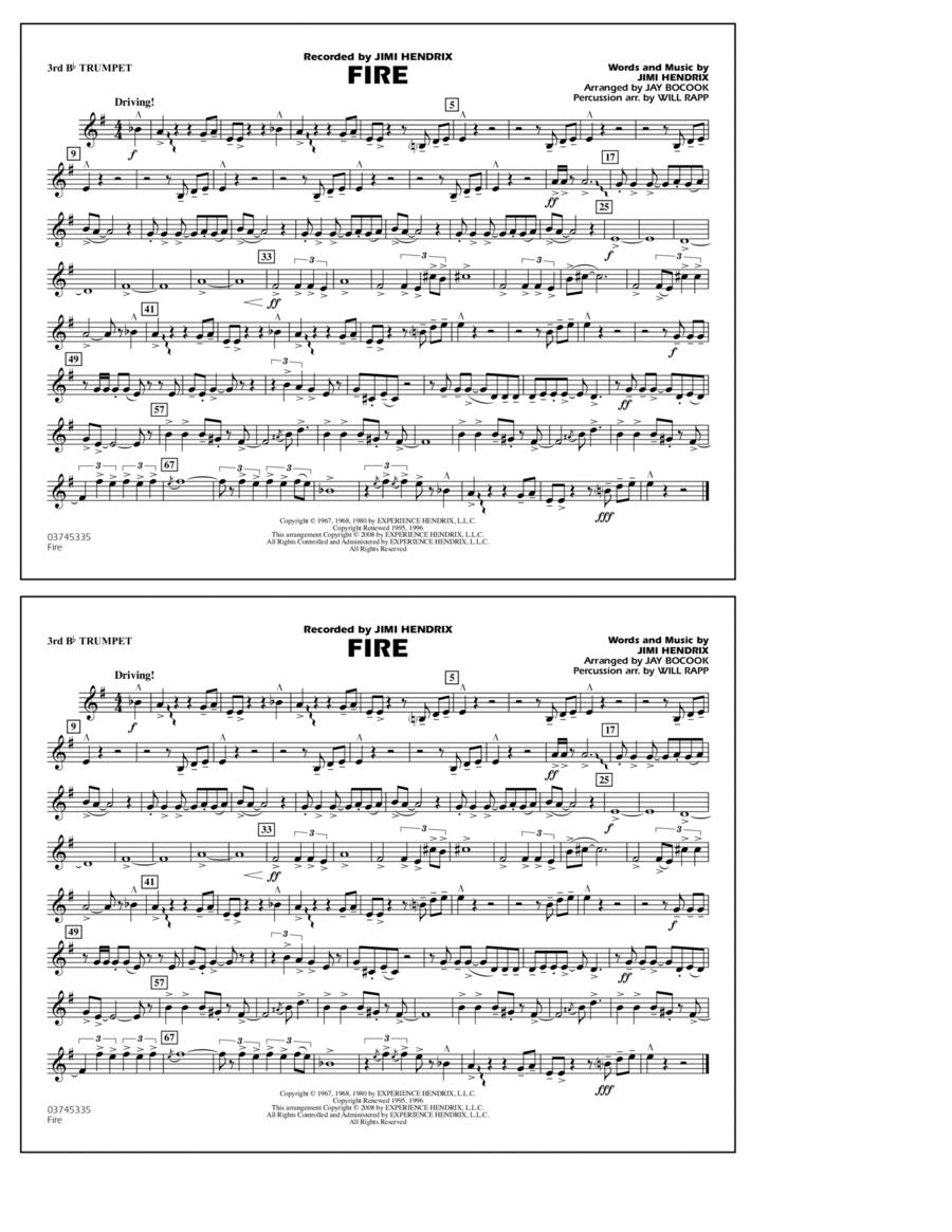 Fire - 3rd Bb Trumpet