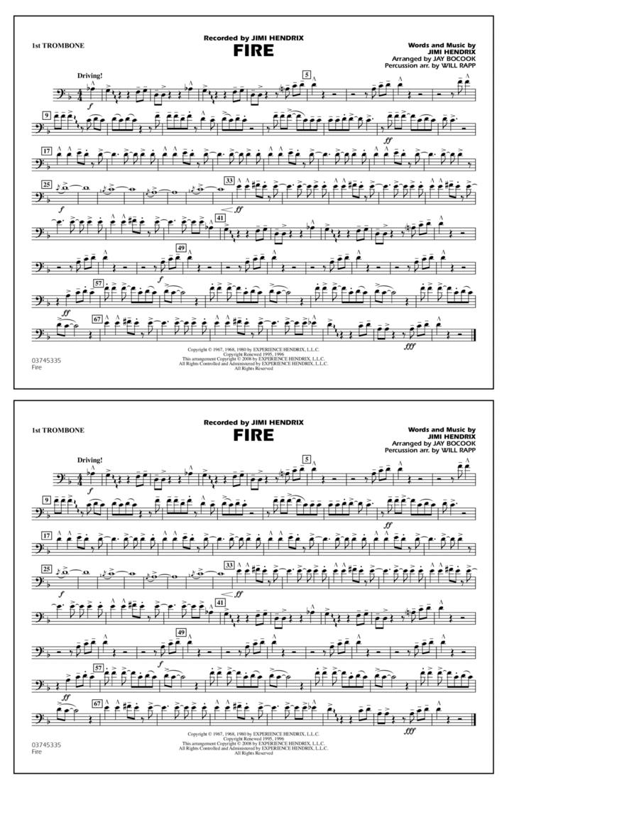 Fire - 1st Trombone