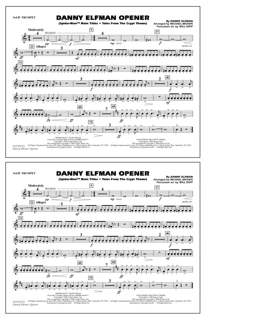 Danny Elfman Opener - 3rd Bb Trumpet