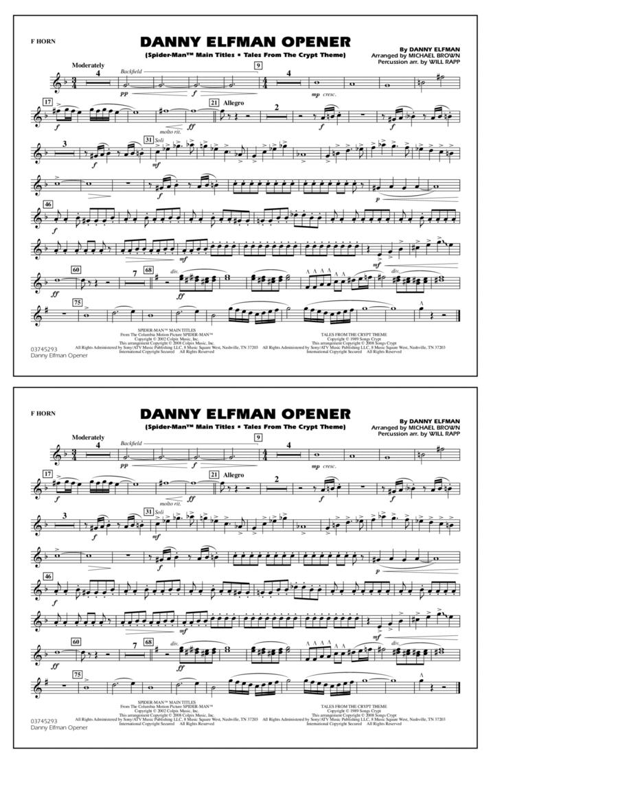 Danny Elfman Opener - F Horn