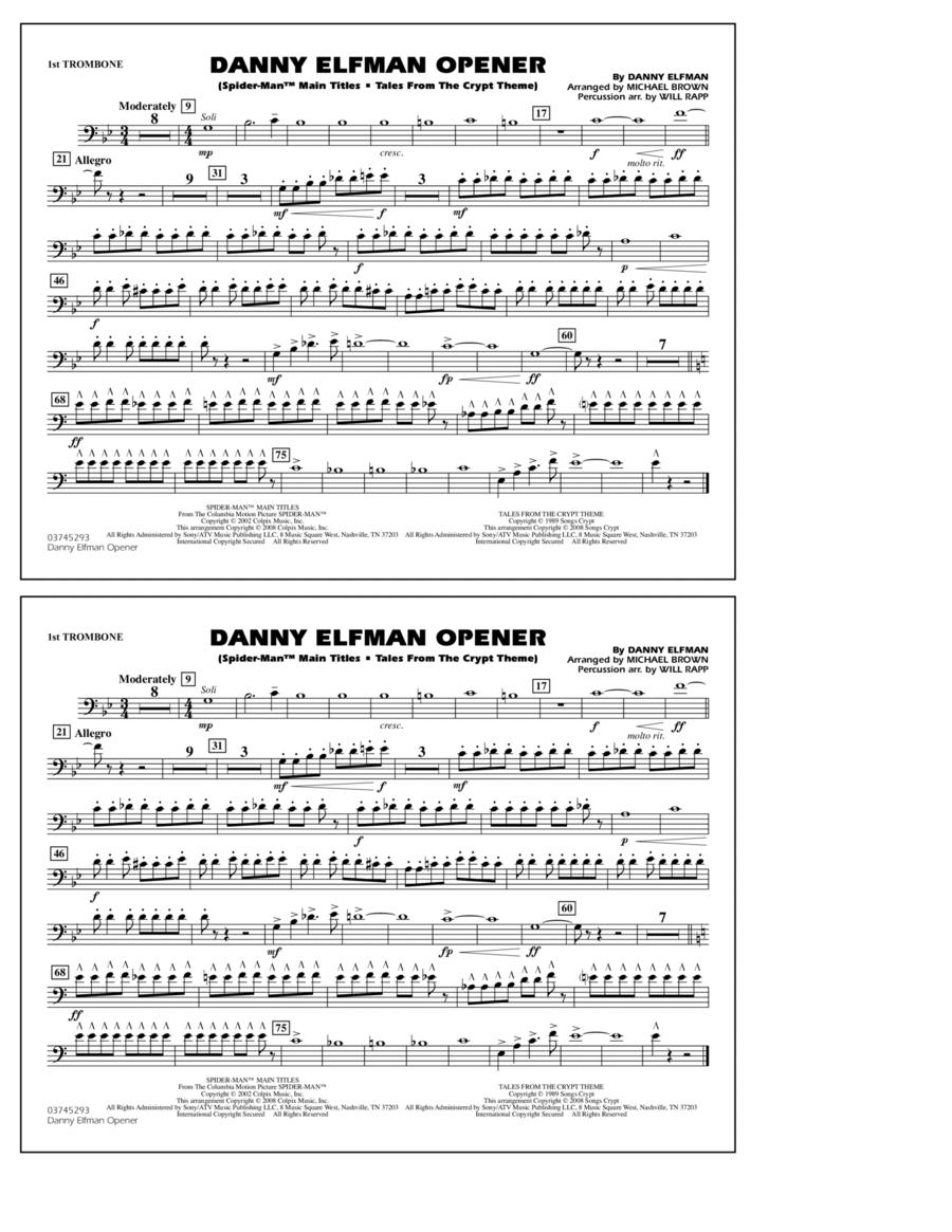Danny Elfman Opener - 1st Trombone