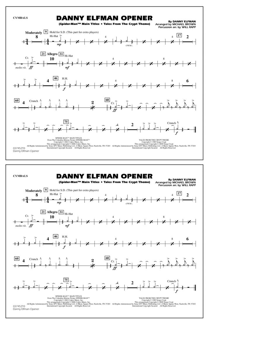 Danny Elfman Opener - Cymbals