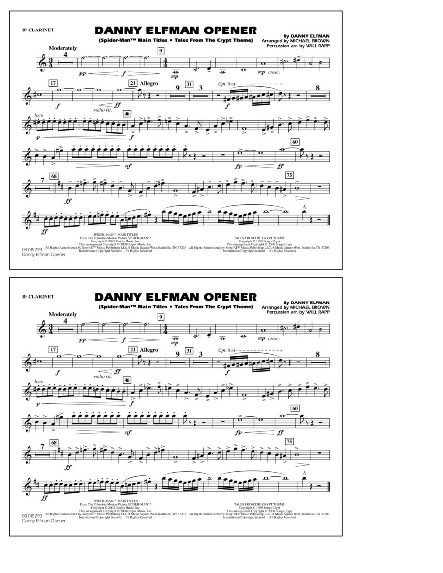 Danny Elfman Opener - Bb Clarinet