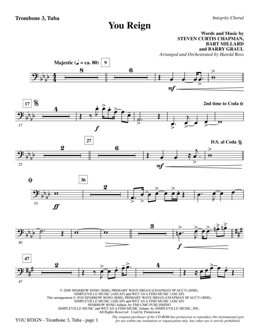 You Reign - Trombone 3/Tuba