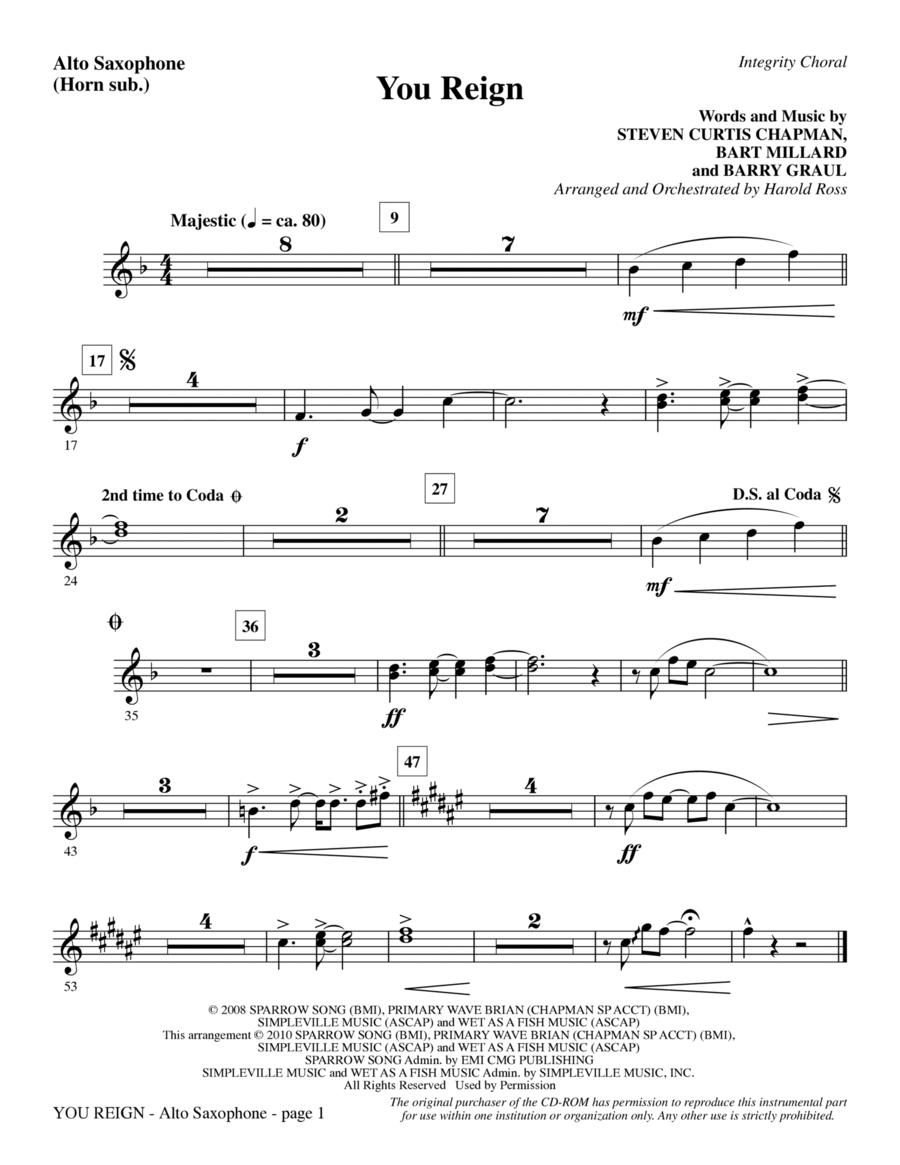 You Reign - Alto Sax (sub. Horn)
