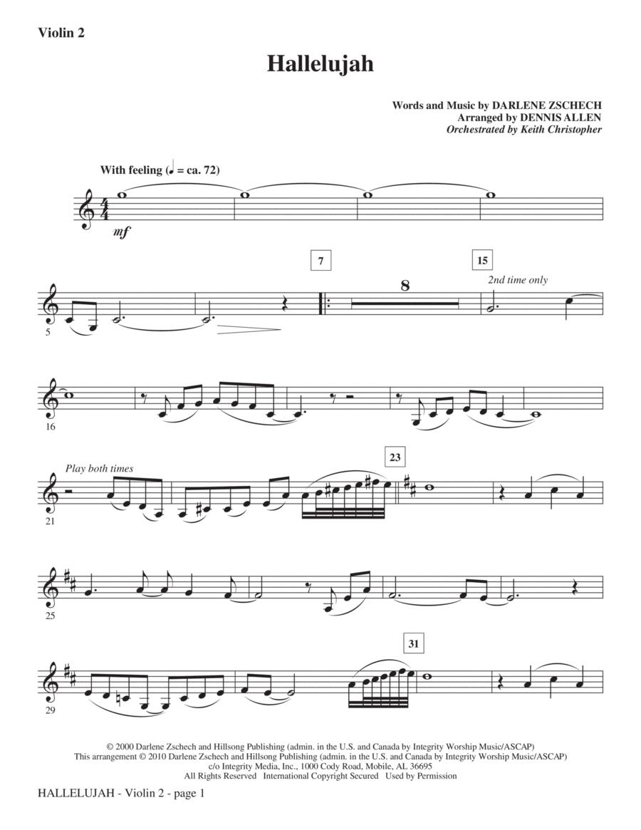 Hallelujah - Violin 2