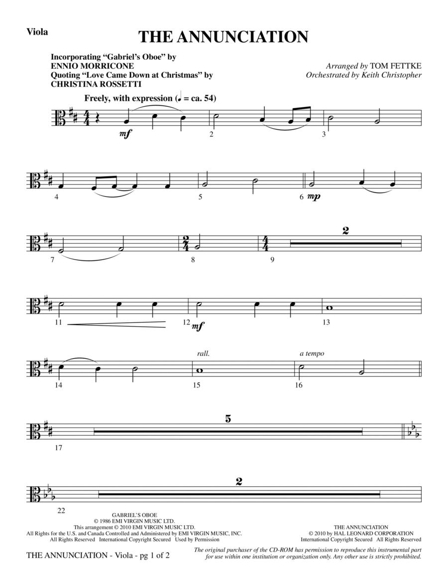 The Annunciation (incorporating Gabriel's Oboe) - Viola