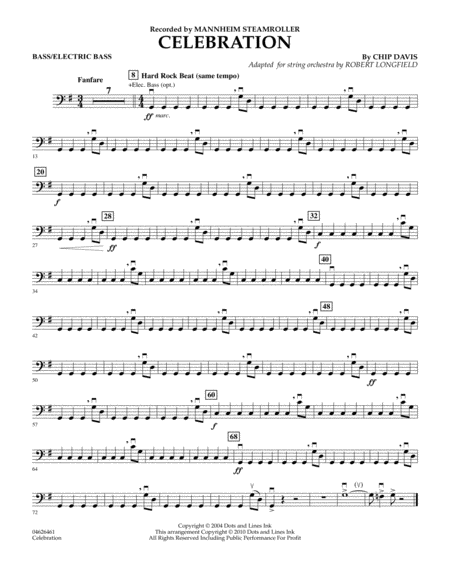 Celebration (Mannheim Steamroller) - Bass