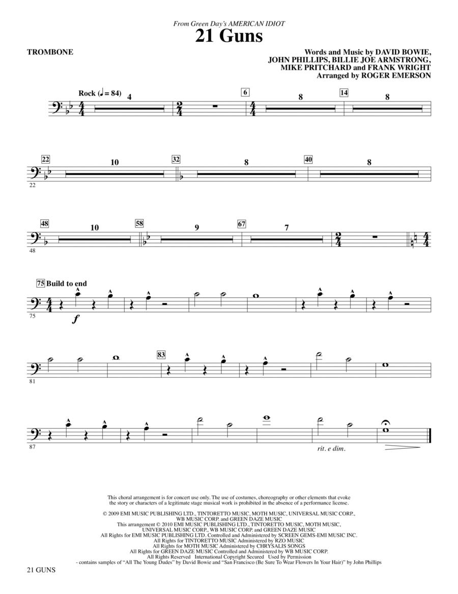 21 Guns (from Green Day's American Idiot) - Trombone