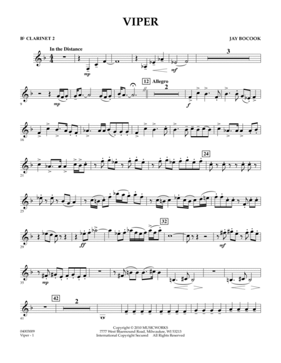 Viper - Bb Clarinet 2