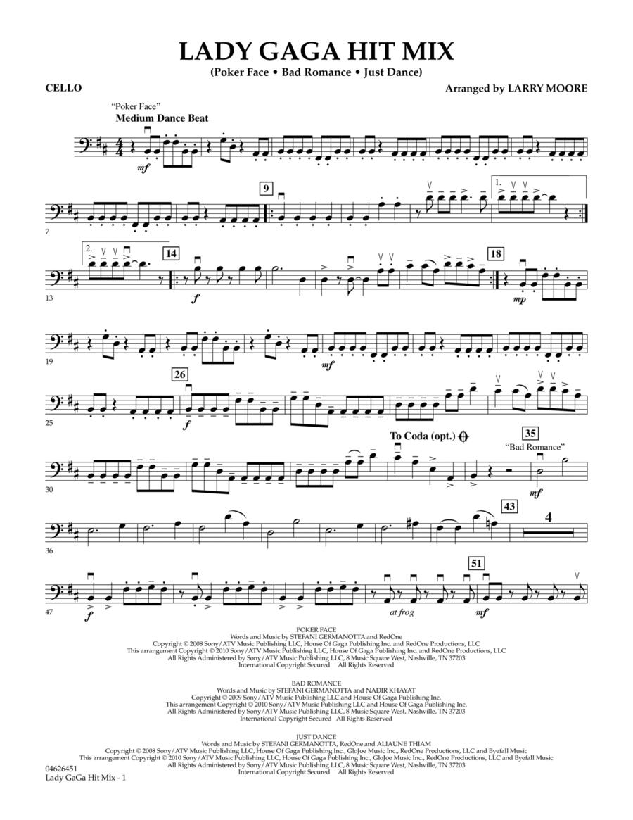 Lady GaGa Hit Mix - Cello