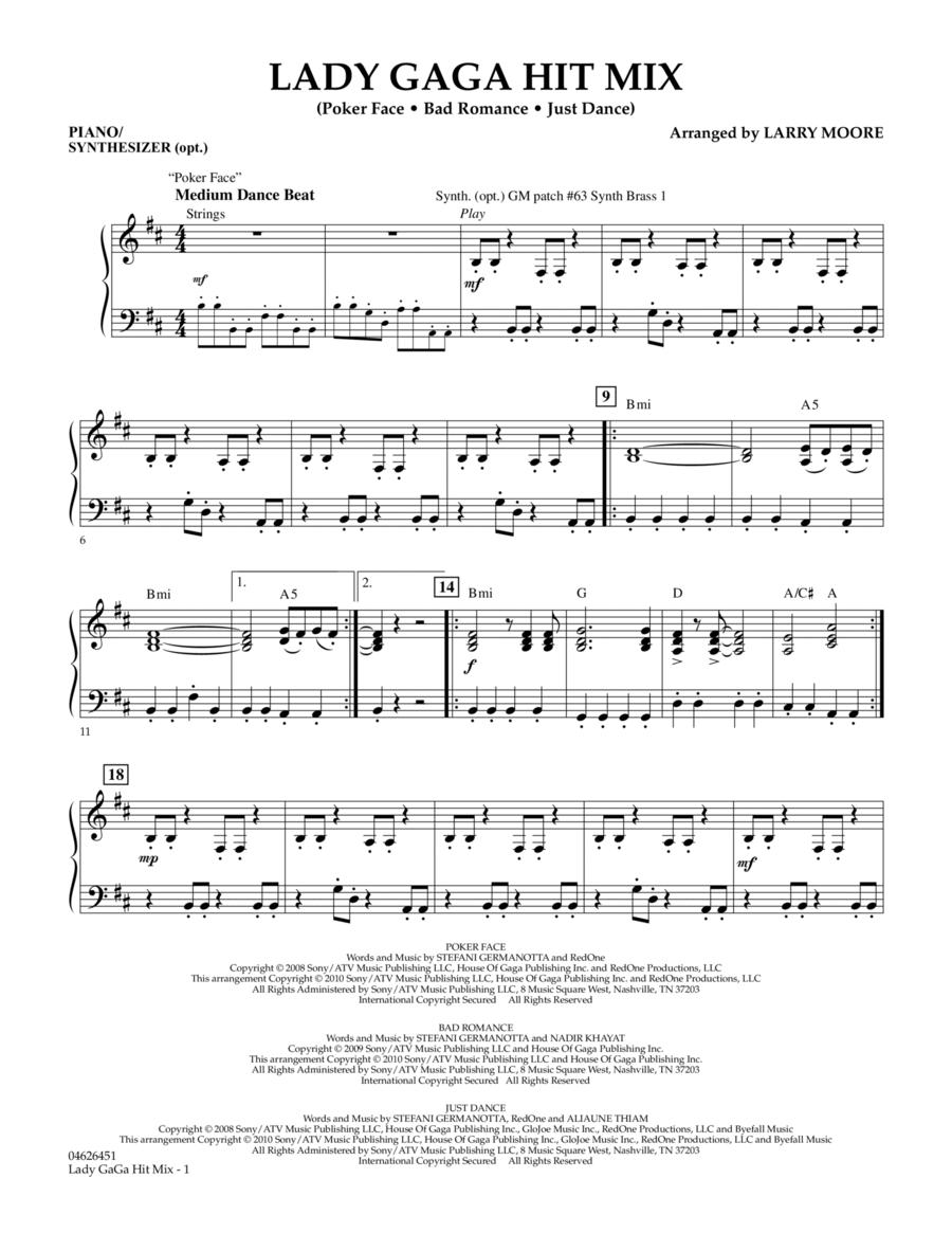 Lady GaGa Hit Mix - Piano