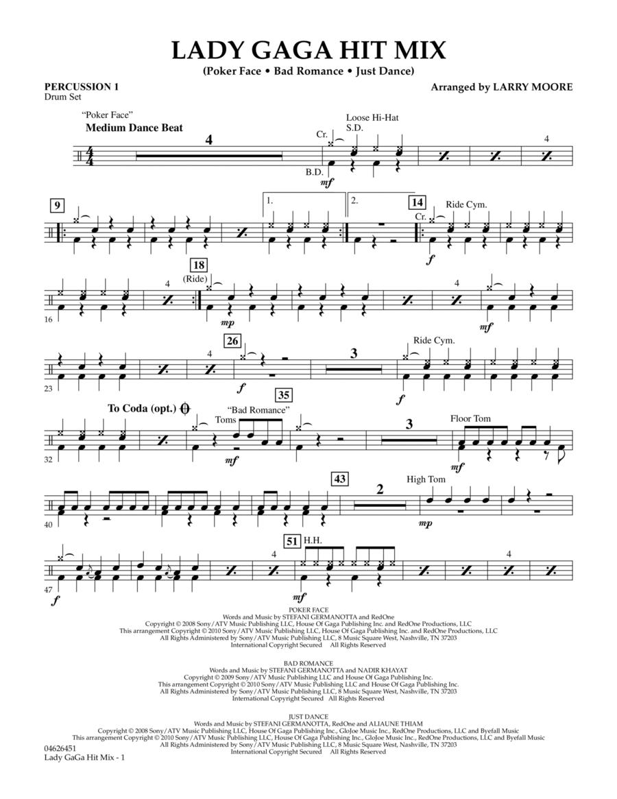 Lady GaGa Hit Mix - Percussion 1
