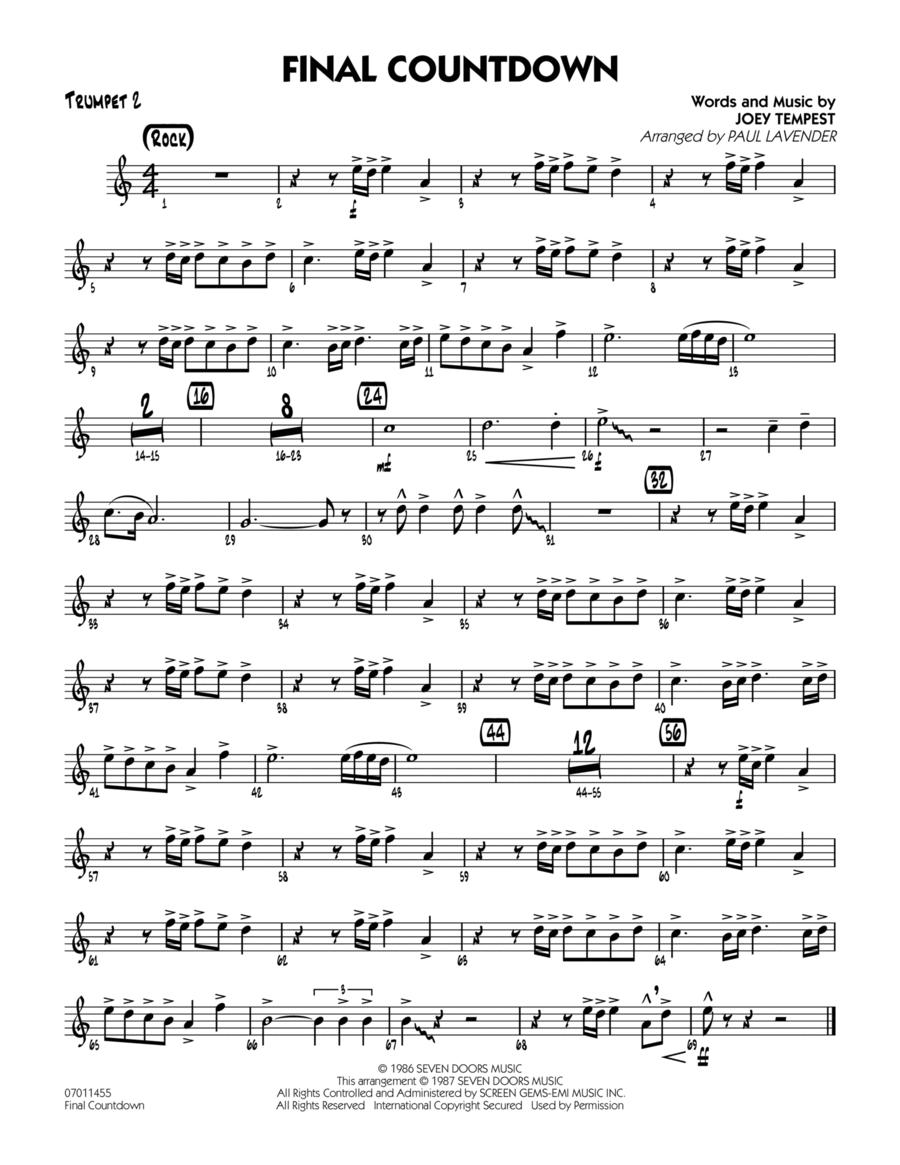 Final Countdown - Trumpet 2