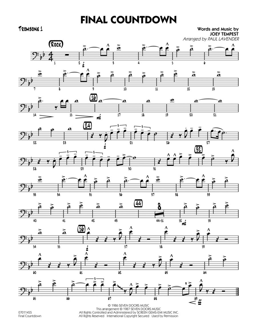 Final Countdown - Trombone 1